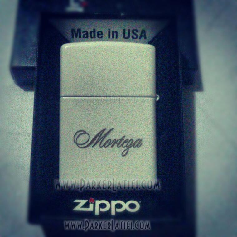 حکاکی بر روی فندک زیپو Zippo