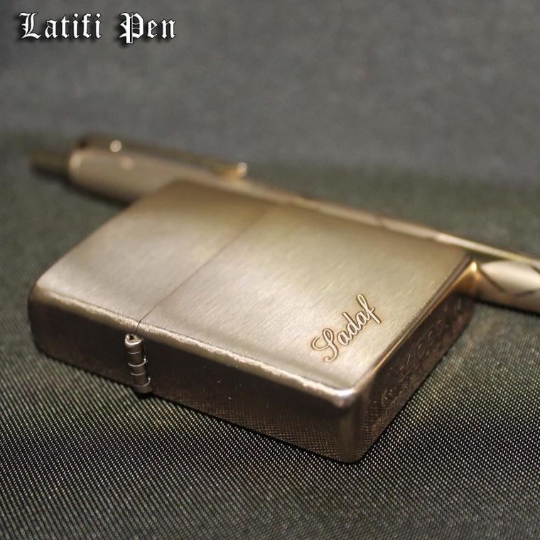 حکاکی بر روی Zippo lighter
